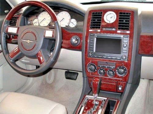 CHRYSLER 300 300C HEMI w/navigation TOURING INTERIOR BURL WOOD DASH TRIM KIT SET 2005 2006 2007