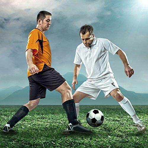 Knee High Athletic Soccer Socks, Fancy Fan Unisex Solid Long Fashion Football Team Socks 2 12 Pairs