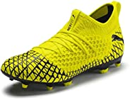 PUMA Men's Future 4.3 Netfit Firm Artificial Ground Soccer Shoe, Black-Black Aged Silver, One