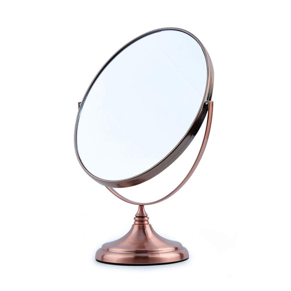 WJMLS ステンレススチールミラーヨーロッパのhdデスクトップミラーダブルミラー両面化粧鏡、ラウンド、クローム - ホテル、寝室用 (色 : B)  B B07SBF6XB1