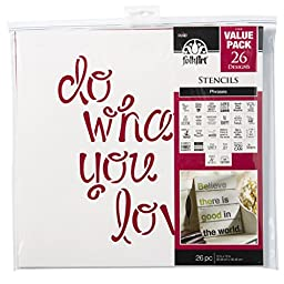FolkArt Die Cut Paper Stencils, 31564E Phrases (26-Pack)