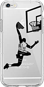 iPhone 6 Basketball Case,Silicon TPU Case for iPhone 6 6S, Personality Basketball Dunk Shot Case,3D Emboss Clear Printed Design Fashion Pattern Soft Flexible TPU Back Cover for iPhone 6S(Yhong)