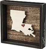 Louisiana State Shape Box Sign Primitives by Kathy