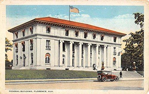 Florence Alabama Federal Bldg Street View Antique Postcard K40205