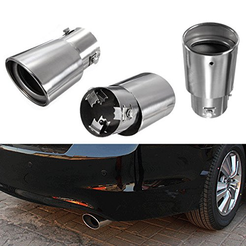 Stainless Steel Car Auto Exhaust Drop Down Tail Pipe Tip Diesel Trim Muffler