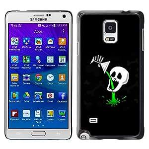 Smartphone Rígido Protección única Imagen Carcasa Funda Tapa Skin Case Para Samsung Galaxy Note 4 SM-N910F SM-N910K SM-N910C SM-N910W8 SM-N910U SM-N910 Funny Cocktail Skull Death Poison / STRONG