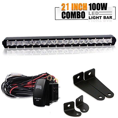 SLIM 20INCH 100W LED WORK LIGHT BAR SINGLE ROW FOR DRIVING LAMP UTE ATV SUV