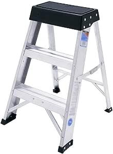 QING MEI Escalera De Tijera Escalera Plegable Para El Hogar | Aleación De Aluminio | Escalera En Espiga Escalera Pequeña De Tres Pasos De Tres Lados Tamaño: 70X11.8cm A++: Amazon.es: Bricolaje y