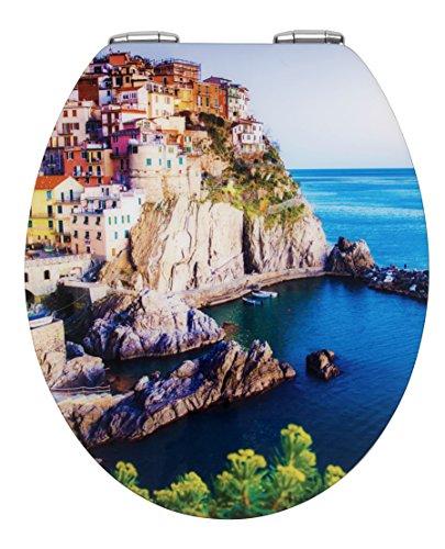 Wenko 21816100 Amalfi Abattant avec Frein de Chute MDF/Acrylique 38,5 x 6,5 x 46,0 cm