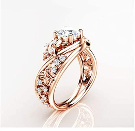 bague or et pierre rose