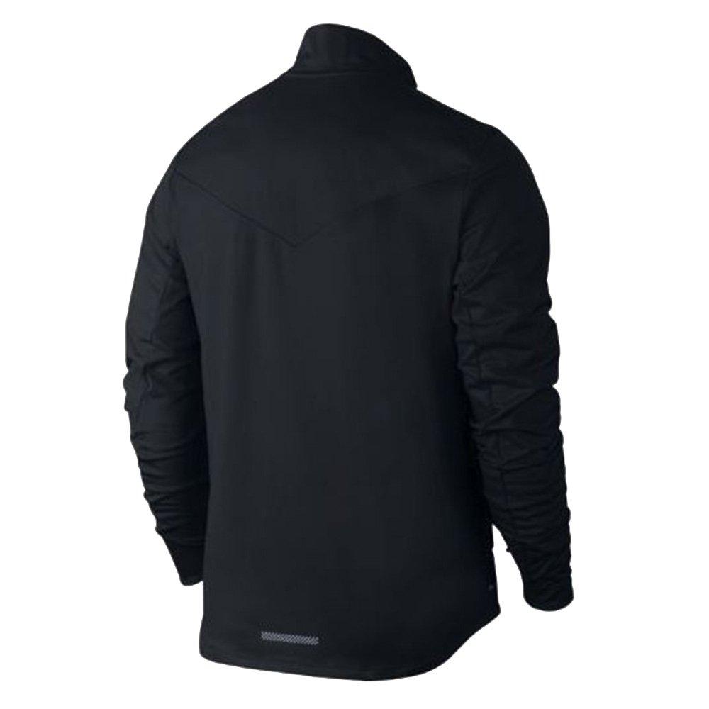 a48400491f Amazon.com  Nike Shield Men s Running Jacket Black 917966 010 (Large)   Clothing