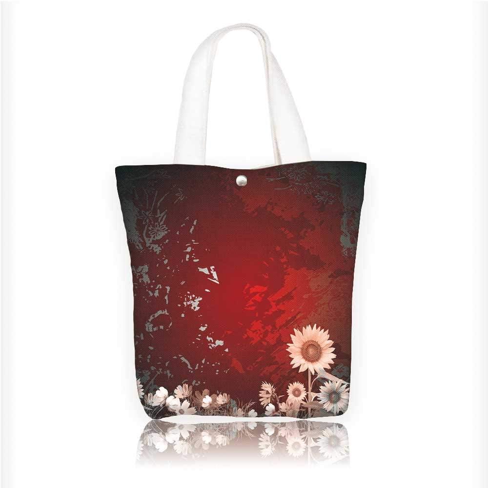 Red Girasole Tela Tote Bag Borsa a tracolla in tela