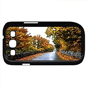Beautiful autumn - Watercolor style - Case Cover For Samsung Galaxy S3 i9300 (Black)