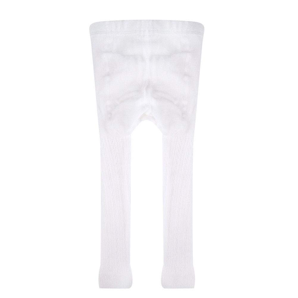 Toddler Infant Baby Girl Knitted Footless Tights Hollow Out White Hosiery for 0-4T Kids