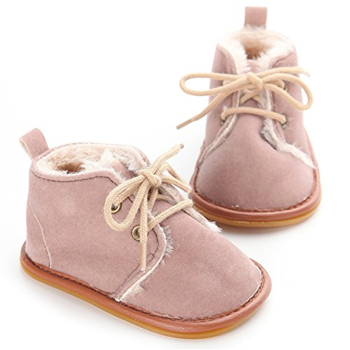 Zapatos de Bebé de Invierno Suaves de las Primeros Caminante (M: 6~12 meses, Leopardo) Marrón