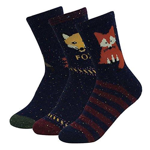 Haley Clothes Women Winter warm Cute Animal Pattern Novelty Casual Crew Socks