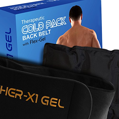 Back Pain Cold Reusable Ice Pack Belt Therapy For Lower Lumbar , Sciatic Nerve Pain Relief Degenerative Disc Disease Coccyx Tailbone Pain Reusable Gel Flexible Medical Grade by MedX (Image #3)