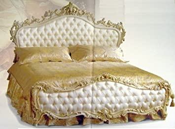LouisXV Barock Bett Doppel Bett 200x200 Schlafzimmer Antik Stil ...
