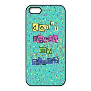 Lycase(TM) Don't touch my phone Customized Cell Phone Case, Don't touch my phone Iphone 5,5S Protective Case