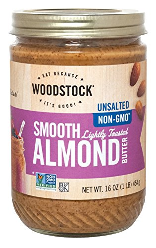 Butter Toasted Almond - Woodstock Lightly Toasted Almond Butter, Unsalted, 16 oz