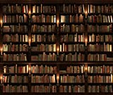 Yelewen 7x5ft Night Candles Library Bookshelf School Students Photography Backdrops Thin Vinyl Indoor Studio Customized Digital Printed Backgrounds Photo Props