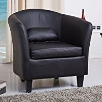 Gold Sparrow Denton Black Club Chair