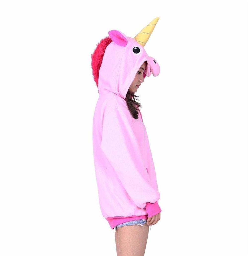 Adult Men Women Pink Large tail Unicorn Pegasus Unisex Anime Reborn Cosplay UK