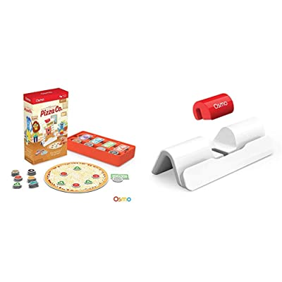 Osmo - Pizza Co. Game (Ages 5-12) New Base for iPad Bundle - 2 Hands-On Learning Games iPad Base Included: Electronics
