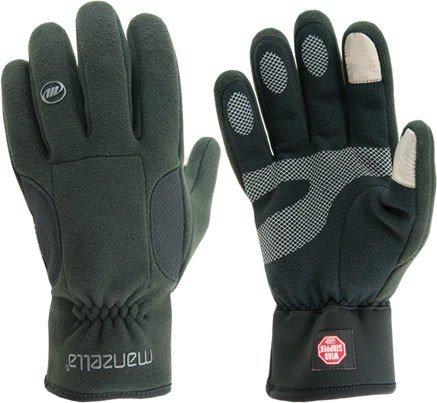 Manzella Chinook Windstopper TouchTip Fleece Gloves - Women's, Black,Large