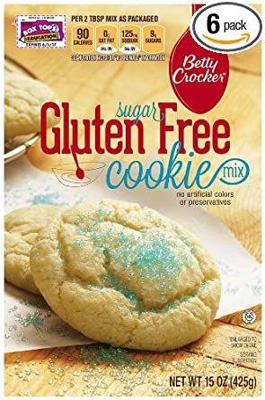 Betty Crocker Baking Mix, Gluten Free Cookie Mix, Sugar, 15 Oz Box (Pack of 6)