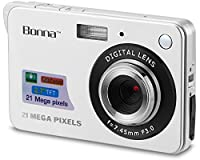 Bonna 21 mega pixels HD Digital Camera - Digital video camera - Students cameras - Students Camcorder - Handheld Sized Digital Camcorder Indoor Outdoor for Adult /Seniors / Kids (silver)