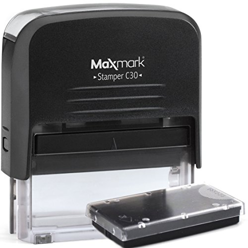 Custom Self Inking Rubber Stamp - Return Address Stamp, Includes Free Extra Replacement Pad