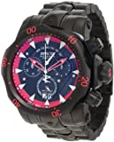 Invicta 1599 Men s Reserve Venom Stealth Black Label Special Limited Collector s Edition Chronograph Black IP Red Accented Custom Dial Swiss Made Watch