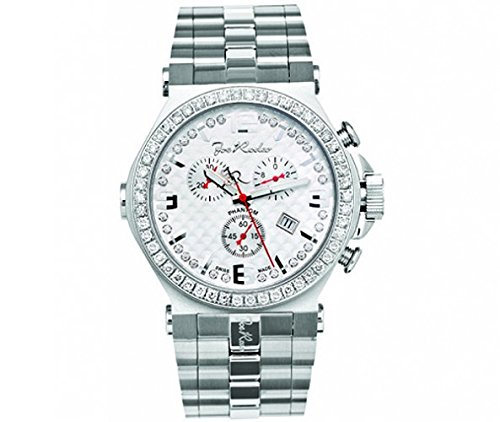 Joe Rodeo Diamond Men's Watch - PHANTOM silver 3.25 ctw