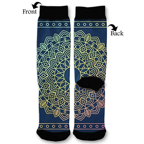Ornamental Round Lace Pattern Socks Funny Fashion Novelty Advanced Moisture Wicking Sock for Man Women