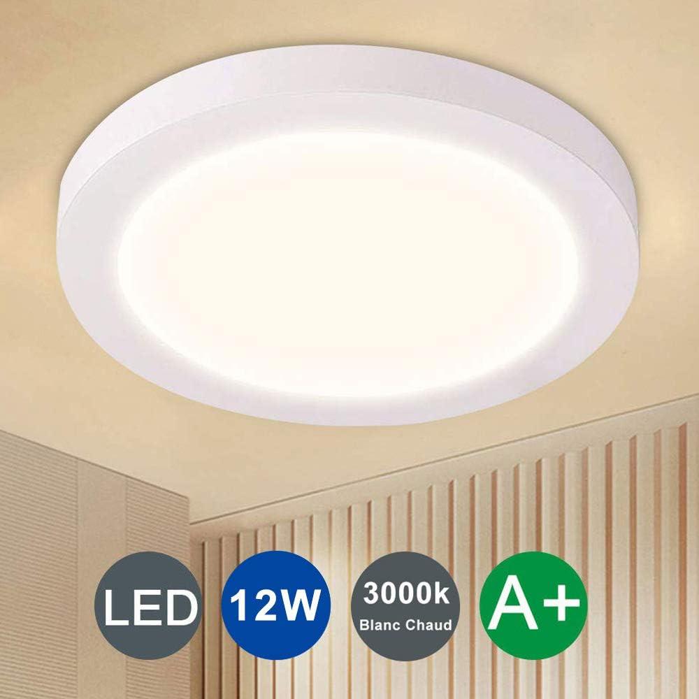 angle de faisceau 120/° pour balcon cuisine et chambre /à coucher lampe plafond de couloir blanc chaud Depuley LED 18w plafonnier chic et classique petit durable en aluminum ding/énierie