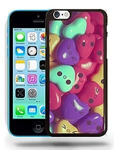 Lindo colorido Jellybean semiconsonante caras carcasa diseños Para iPhone 5C