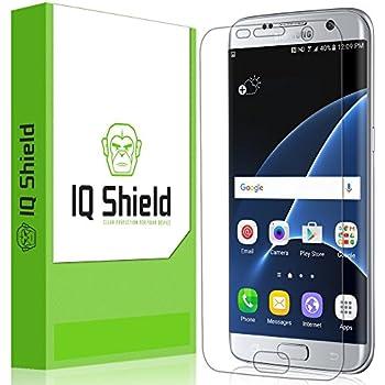 Galaxy S7 Edge Screen Protector, IQ Shield LiQuidSkin Full Coverage Screen Protector for Galaxy S7 Edge HD Clear Anti-Bubble Film - with
