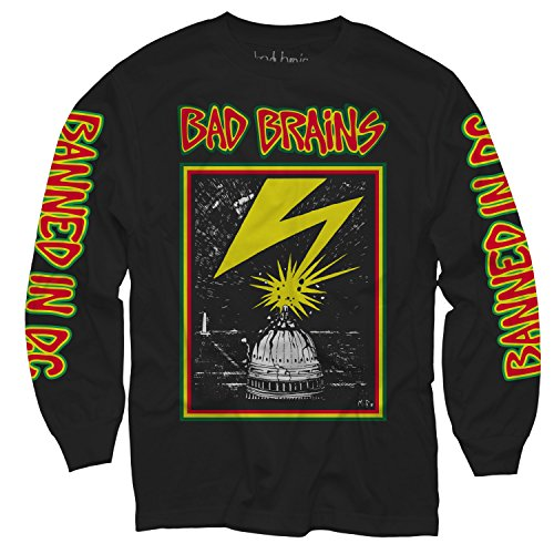 Merch Direct Bad Brains - Capitol - Long Sleeve Shirt - BLA - MD Long Sleeve Band Shirts