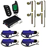 A777 Complete Security System, Keyless Entry & Remote Start through Data Bus on Most New Cars (4) Heavy Duty Universal 12 Volt 360 Degree Power Motor Door Lock Actuator