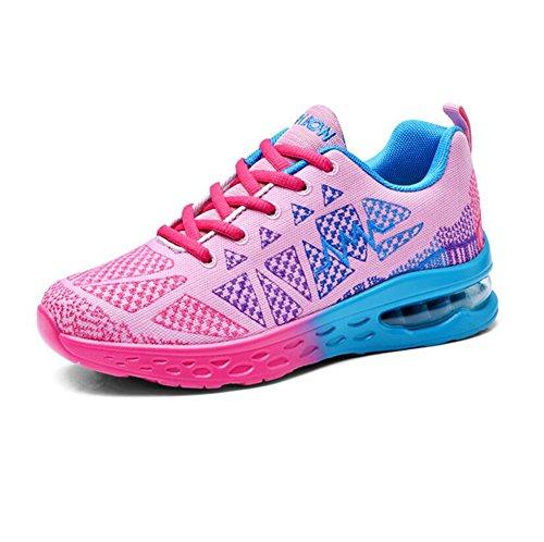 CIOR Männer und Frauen Leichte Laufschuhe Fashion Breathable Turnschuhe Casual Athletisch Sportschuhe (Frauen) Rosa