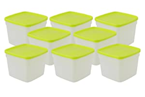 Arrow Plastic Stor-Keeper Freezer Storage Containers - 1.5 Pint Set Of 8 Containers