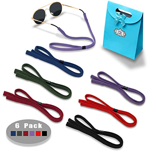 Eyeglasses Holder Strap Cord - Sunglasses Eyewear Retainer-Glasses Cord Lanyard - 6 Pack (Purple, Army green, Dark red, Royal blue, Red, Black)