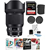 Sigma 85mm f/1.4 DG HSM Art Lens for SONY E Mount Cameras (321965) w/64GB SD Card & Corel Software Kit