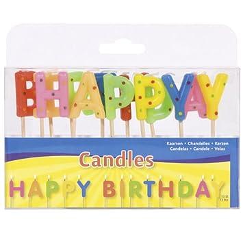 Juguetes 22906 - velas del feliz cumpleaños: Amazon.es ...