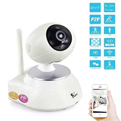 Wireless cameras, 2.4g Pan Tilt IP Wifi Network 720P HD Surveillance Security Webcam with Two-Way Audio, Night Vision, Motion Detection, Alerts