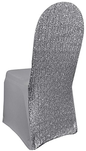 Pleasant Wedding Linens Inc Spandex Banquet Stretch Fitted Sequin Chair Cover Lycra Chair Covers For Restaurant Kitchen Dining Wedding Party Banquet Events Andrewgaddart Wooden Chair Designs For Living Room Andrewgaddartcom