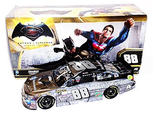 2X AUTOGRAPHED 2016 Dale Earnhardt Jr. & Greg Ives (Crew Chief) #88 Nationwide Insurance Racing BATMAN CAR (Batman Vs. Superman Movie) Signed Lionel 1/24 NASCAR Collectible Diecast Car with COA (#4874 of only 8,688 produced!)