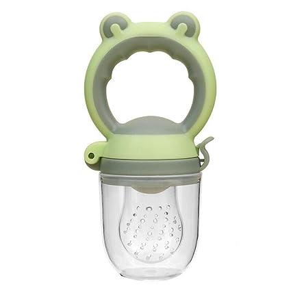 Koojawind Niños pequeños Bebé Mordedor Vegetal Fruta Niño Dentición Anillo de Juguete Masticable Chupete, Alimentador para bebés - Alimentador de ...