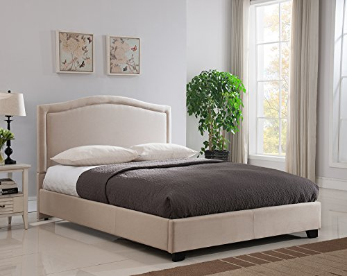 Mantua Abbotsford Platform Bed, Taupe, Queen